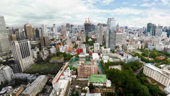 Ausschnitt aus einem zoombaren Panoramabild von Tokio, das der Fotograf Jeffrey Martin aus 8.000 Einzelfotos zusammengebaut hat.