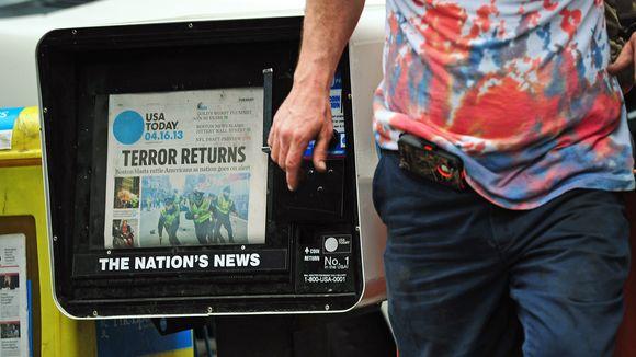 """""""Der Terror ist zurück"""": Die Anschläge in Boston dominieren die Schlagzeilen. © Emmanuel Dunand/AFP/Getty Images"""