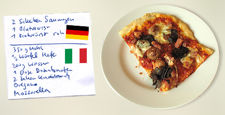 Blutwurst, Bratwurst & Saumagen vs. Pizza Margherita – Deutschland vs. Italien