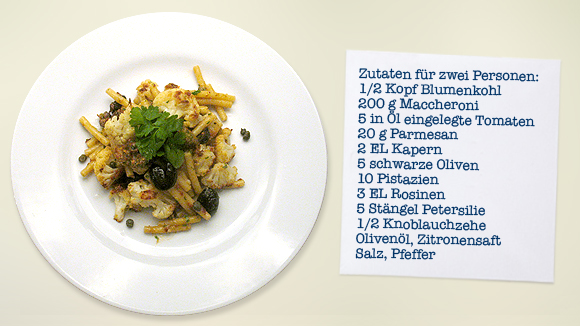 Blumenkohl-Nudeln-Rezept