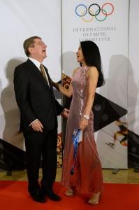 Vanessa-Mae mit Thomas Bach