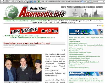 """""""Echte Kameradschaft"""" - Ehepaar Heine mit Neonazi Horst Mahler"""