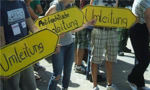 Antifaschistische Proteste in Hamburg Blankenese