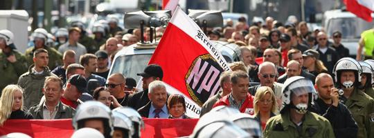 Die NPD ist bundesweit im Wahlkampf © Getty