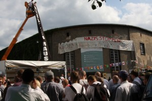 Neonazis in Bad Nenndorf 2010 (Foto: Kai Budler)
