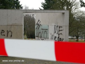 Schändung auf dem Ehrenfriedhof (Quelle: http://www.nnz-online.de)