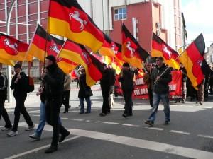 NPD-Stammland: Neonazis mit Landesfahnen