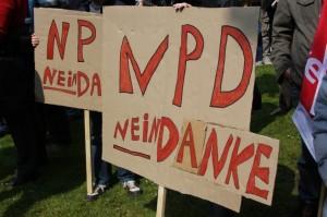 Protest gegen NPD-Landesparteitag 2010 in Bad Gandersheim