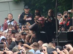 """Lunikoff beim """"Rock für Deutschland"""" in Gera 2009. Foto: Infothek Dessau"""
