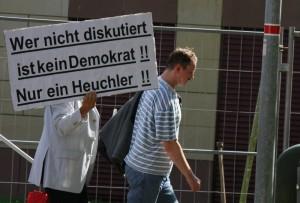 Demokratieverständnis à la NPD, Foto Kai Budler