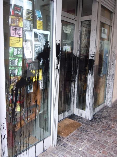 AStA-Eingang nach Anschlag, Foto: privat