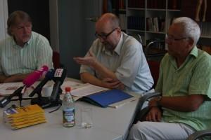 Pressekonferenz des Bündnisses, Foto: Kai Budler