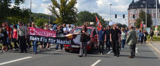 """Abschlusskundgebung gegen """"Rock für Deutschland"""" in Gera"""