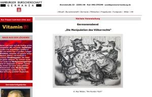 Sreenshot von der Homepage der Hamburger Burschenschaft Germania