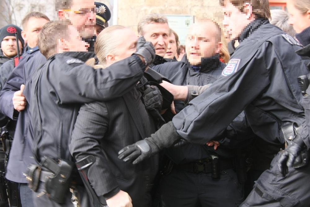 Vorläufige Festnahme von Roy Elbert (NPD)