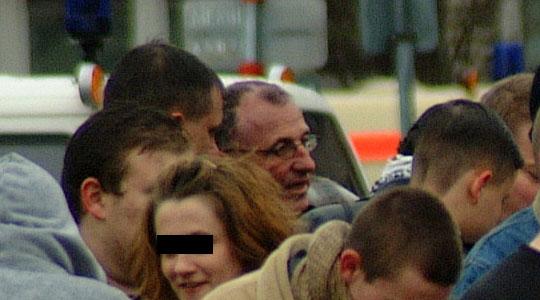 Soll Verbindungen zum NSU unterhalten haben - Neonazi Gerd Ittner (mitte mit Brille) © Rüdiger Löster