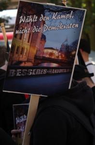 """Eindeutige Aussage: """"Wählt den Kampf"""", Foto: Kai Budler"""