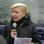 Rechtsextremistin Maria Fank als Rednerin © Jesko Wrede