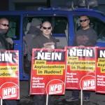 Aufgrund der Blockaden musste die NPD ihre ROute ändern und stark verkürzen © Jesko Wrede