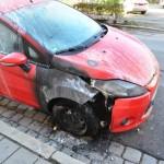Brandanschlag auf das Auto einer linken Familie 2011 © Indymedia