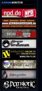 Das Imperium der NPD: Von Neonazigruppen bis Szenebekleidung. Screenshot der Homepage.
