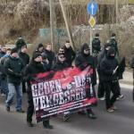 """Unter den Teilnehmer waren viele """"Autonome Nationalisten"""" © Jesko Wrede"""