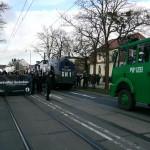 Die Polizei sicherte die Aufmarschroute mit hunderten Beamten und Wasserwerfern © Jesko Wrede