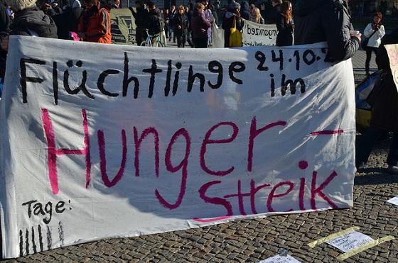 Im Hungerstreik, um ernst genommen zu werden  © Enno Lenze