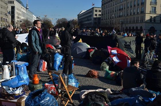 Die Flüchtlinge kämpfen weiter - und das immer organisierter © Enno Lenze