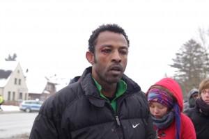 Mohamad: Verletzt durch einen Polizisten © refugeestrike