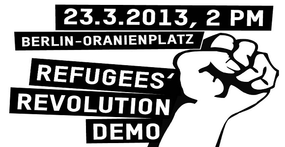 Bundesweit haben die Aktivisten die Flyer für die Demonstration am Samstag verteilt © asylstrikeberlin