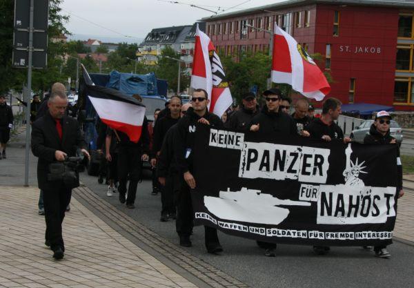Demonstration der freien Kräfte in Nordhause JUli 2011 mit Kamera dabei Roy Elbert