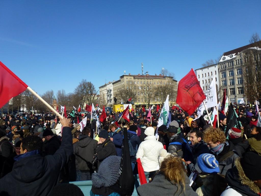 Der Treffpunkt für die Demonstration ist das Protestcamp der Flüchtlinge am Oranienplatz © Caro Lobig