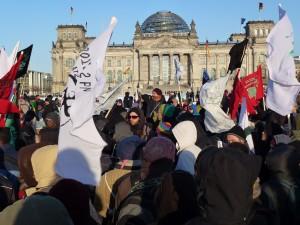 Die letzte große Demonstration der Flüchtlinge am 23.März hat Stegemann auch angemeldet © Caro Lobig