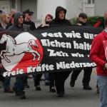 Aus der Region um Wolfsburg beteiligten sich nur ein Dutzend Neonazis. © ARUG