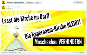 Screenshot Werbung für antimuslimische Aktion der Hamburger Identitären