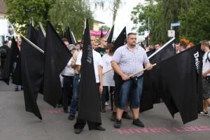 Seit 2006 kommen Neonazis nach Bad Nenndorf. Hier ein Bild von 2010, Foto: Kai Budler.