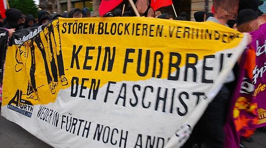 Antifa Fürth demonstriert gegen Neonazitreffpunkte ©Symbolbild revopress