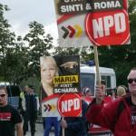 Nur 25 NPD-Anhänger erschienen zu der Kundgebung © Jesko Wrede