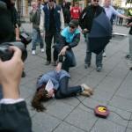 Die Neonazis griffen mehrfach Journalisten an © Jesko Wrede