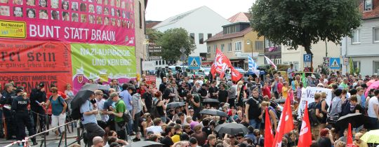 Blockade in Bad Nenndorf 2013