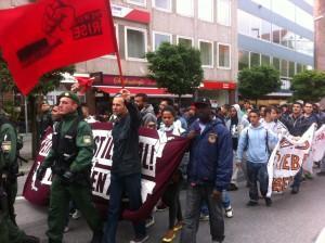 Ihre Parolen sind immer laut - egal ob 70 oder 700 Aktivisten demonstrieren © Caro Lobig