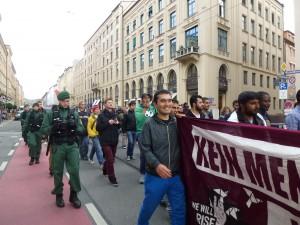 Es ist schon die dritte Demonstration, die die Flüchtlinge in den letzten zwei Wochen in München angemeldet haben © Caro Lobig