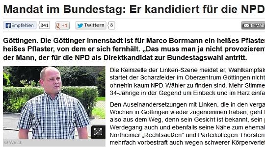 Screenshot des gelöschten Artikels © hna.de