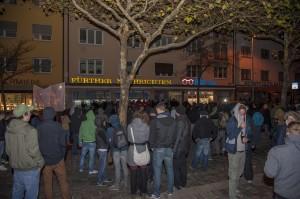 GegendemonstrantInnen vor der Nazikundgebung © Jonas Miller