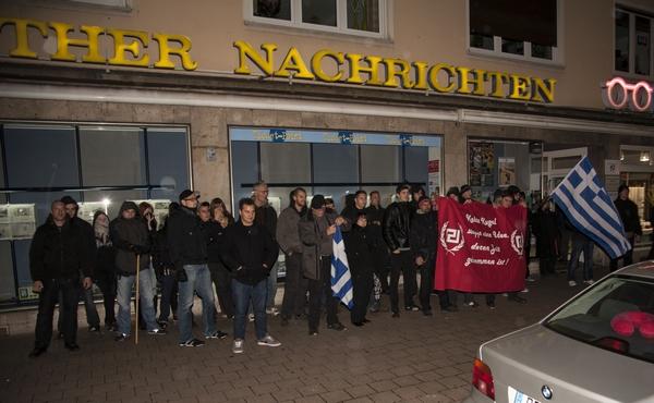 FNS- AktivistInnen bei der Kundgebung in Fürth ©Timo Müller