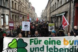 Über 2000 Menschen demonstrierten Anfang Januar in Fürth gegen die BiSF  ©TM