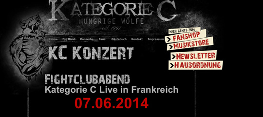 "Screenshot der Homepage von ""Kategorie C"""
