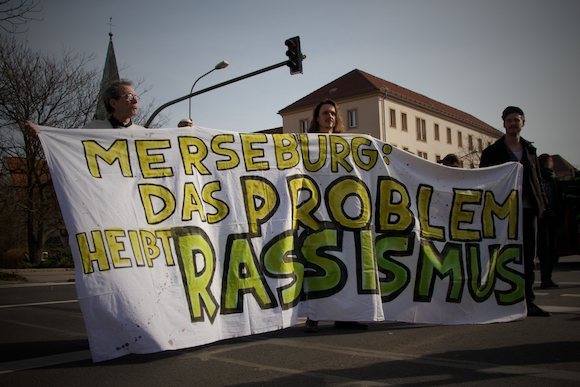 Antirassistische Demonstration Merseburg 03-2014 1