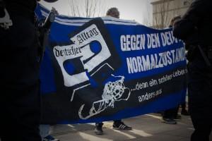 Auch einige Geflüchtete aus dem Lager Krumpa beteiligten sich an der antirassistischen Demonstration  © D. Lima/ visual-change